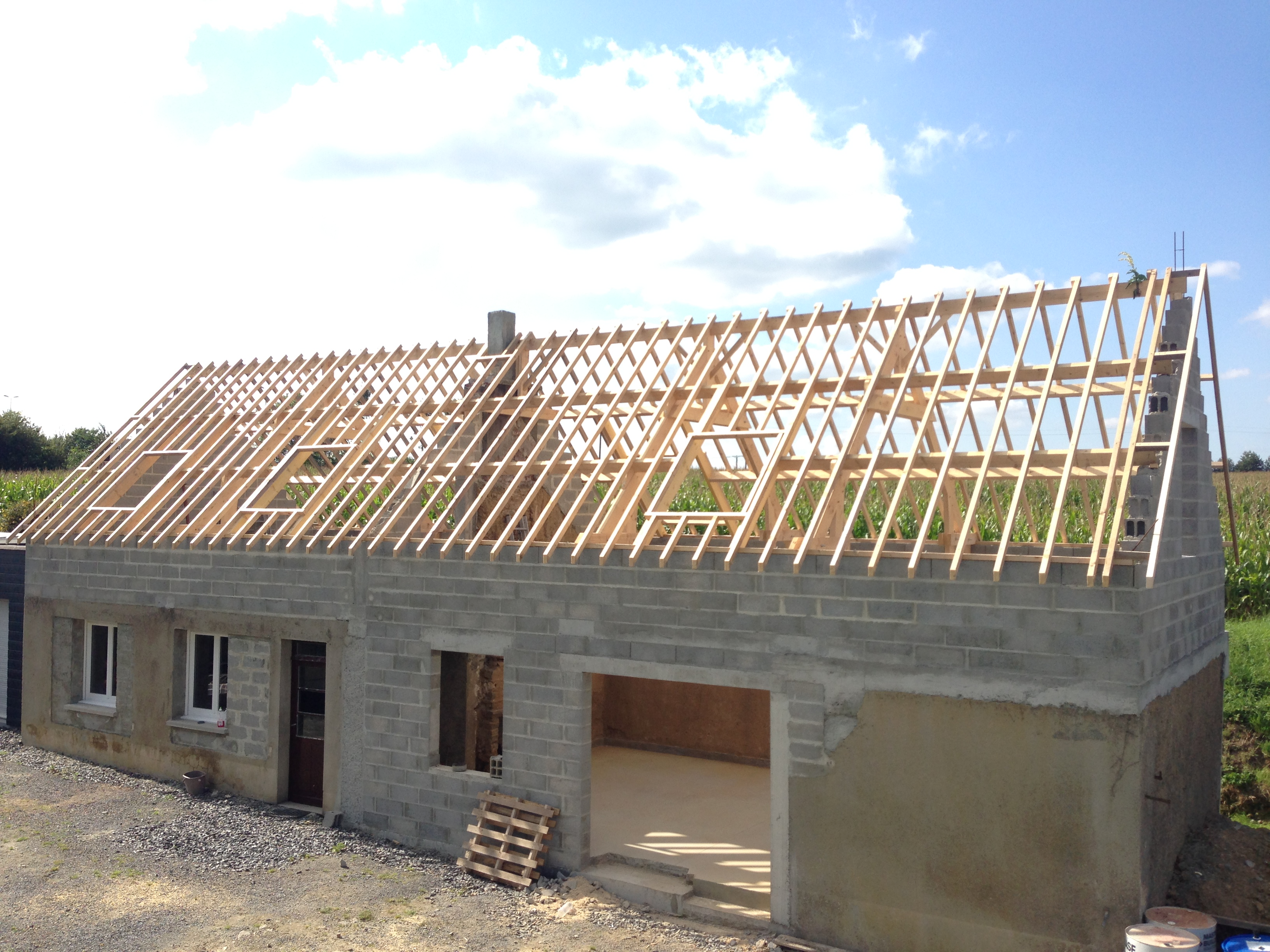 Renovation charpente for Ferme de charpente en bois